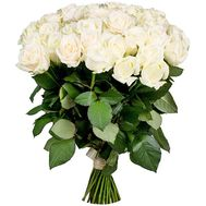 Elegant bouquet of white roses - flowers and bouquets on salonroz.com