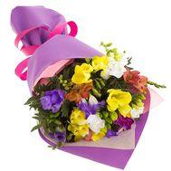 Милый букет фрезий - цветы и букеты на salonroz.com