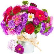 Пёстрый букет астр - цветы и букеты на salonroz.com