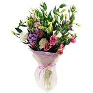 Funny bouquet of lisianthus - flowers and bouquets on salonroz.com