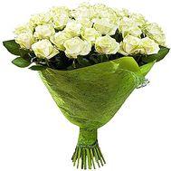 Розкішний букет білих троянд - цветы и букеты на salonroz.com