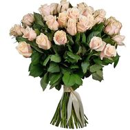 Luxurious bouquet of cream roses - flowers and bouquets on salonroz.com