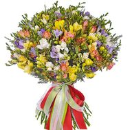 Chic bouquet of 101 freesias - flowers and bouquets on salonroz.com
