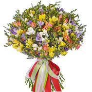Шикарный букет из 101 фрезии - цветы и букеты на salonroz.com