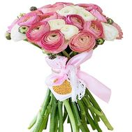A stylish bouquet of Ranunculus - flowers and bouquets on salonroz.com