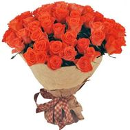 Amazing bouquet of orange roses - flowers and bouquets on salonroz.com