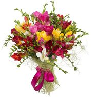A unique bouquet of freesias - flowers and bouquets on salonroz.com