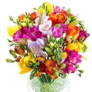 Великолепные фрезии в букете - цветы и букеты на salonroz.com