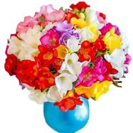 Bright bouquet of freesias - flowers and bouquets on salonroz.com