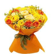 Bright bouquet of Ranunculus - flowers and bouquets on salonroz.com