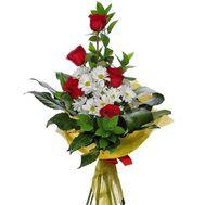 Бізнес букет із троянд і хризантем - цветы и букеты на salonroz.com