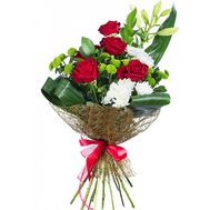Business bouquet with lily - flowers and bouquets on salonroz.com