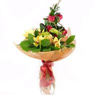 Business bouquet with orchid - flowers and bouquets on salonroz.com