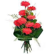 Bouquet of gerberas for the head - flowers and bouquets on salonroz.com