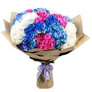 Букет милых гортензий - цветы и букеты на salonroz.com