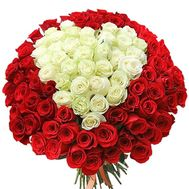 Bouquet of roses heart - flowers and bouquets on salonroz.com
