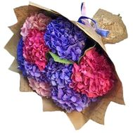 Exotic hydrangeas in a bouquet - flowers and bouquets on salonroz.com