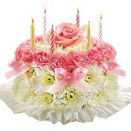 Floral cake - flowers and bouquets on salonroz.com