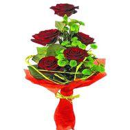 Каскадный бизнес букет из роз и хризантем - цветы и букеты на salonroz.com