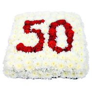 Composition for the anniversary of 50 years - flowers and bouquets on salonroz.com