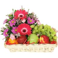 Fruit Basket - Pink Morning - flowers and bouquets on salonroz.com