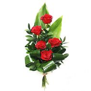 A man's bouquet of 5 roses'[ru]:Мужской букет из 5 роз - flowers and bouquets on salonroz.com