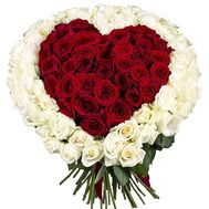 Heart of 151 roses - flowers and bouquets on salonroz.com