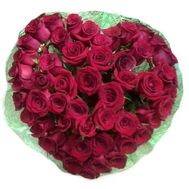 Heart of imported roses - flowers and bouquets on salonroz.com