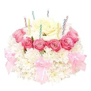 Birthday cake from flowers - flowers and bouquets on salonroz.com