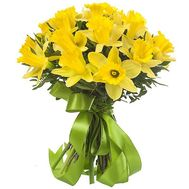 Funny bouquet of 25 daffodils - flowers and bouquets on salonroz.com