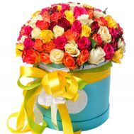 101 rose in a hat box - flowers and bouquets on salonroz.com