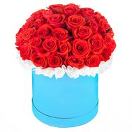 45 red roses in a box - flowers and bouquets on salonroz.com