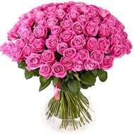 Bouquet of 101 pink roses - flowers and bouquets on salonroz.com