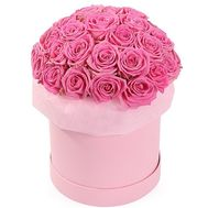 Bouquet of pink roses in box - flowers and bouquets on salonroz.com