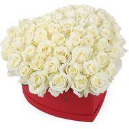 Коробка з 51 троянди у формі серця - цветы и букеты на salonroz.com