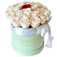 A box of roses for your beloved - flowers and bouquets on salonroz.com