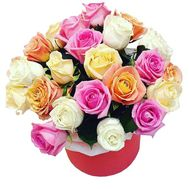 Festive box of roses - flowers and bouquets on salonroz.com