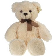 Soft toy - White Teddy Bear - flowers and bouquets on salonroz.com