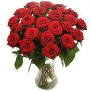 Букет із 25 червоних троянд - цветы и букеты на salonroz.com