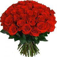 Букет із 55 червоних троянд - цветы и букеты на salonroz.com