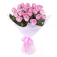 Bouquet of 25 pink roses - flowers and bouquets on salonroz.com