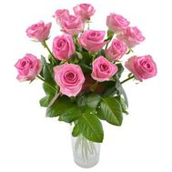 Bouquet of 13 pink roses - flowers and bouquets on salonroz.com