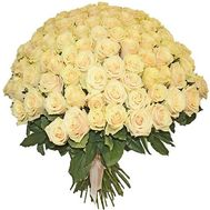 Bouquet of 101 cream-colored roses - flowers and bouquets on salonroz.com