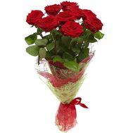Bouquet of 9 red roses - flowers and bouquets on salonroz.com