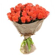 Bouquet of 35 orange roses - flowers and bouquets on salonroz.com