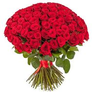 Bouquet of 101 red roses - flowers and bouquets on salonroz.com