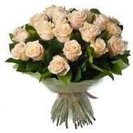 Bouquet of 25 Cream Roses - flowers and bouquets on salonroz.com