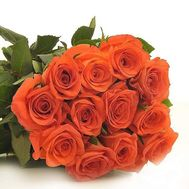 Bouquet of 15 orange roses - flowers and bouquets on salonroz.com