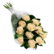 Bouquet of 11 Cream Roses - flowers and bouquets on salonroz.com