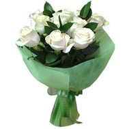 Bouquet of 9 white roses - flowers and bouquets on salonroz.com